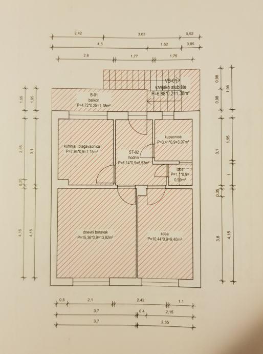 Stan Zagreb (Trešnjevka) 2-soban stan 40 m2+balkon+tavan